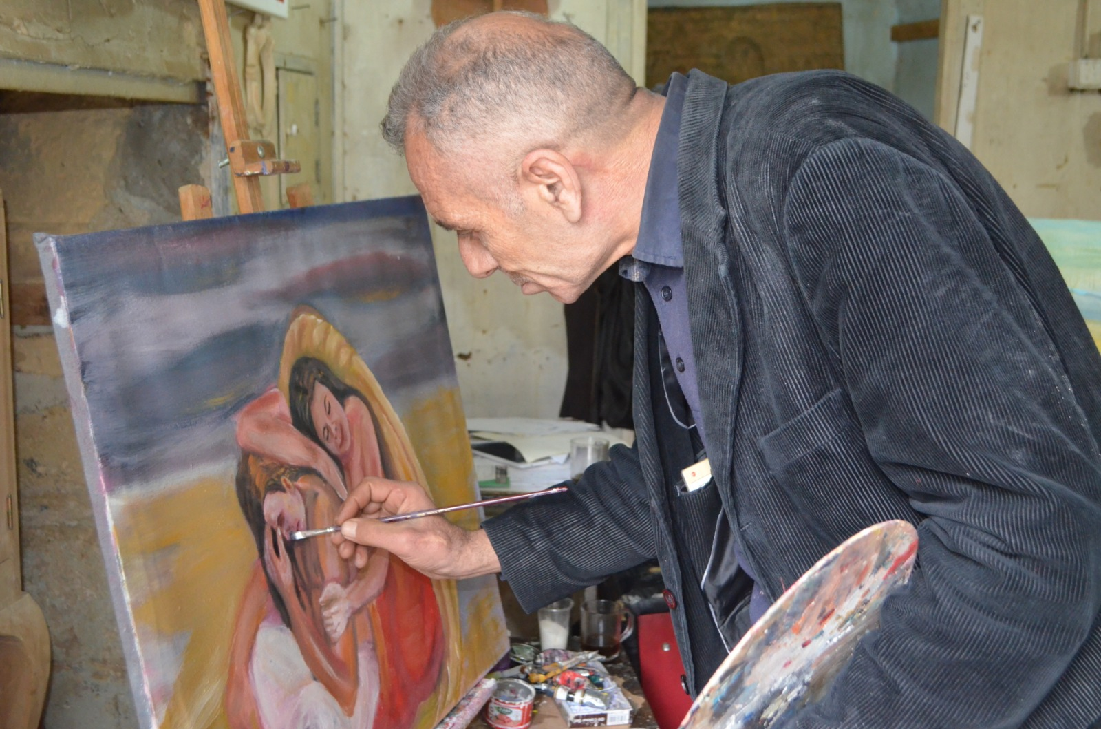 Halepli ressam artık barışı resmediyor