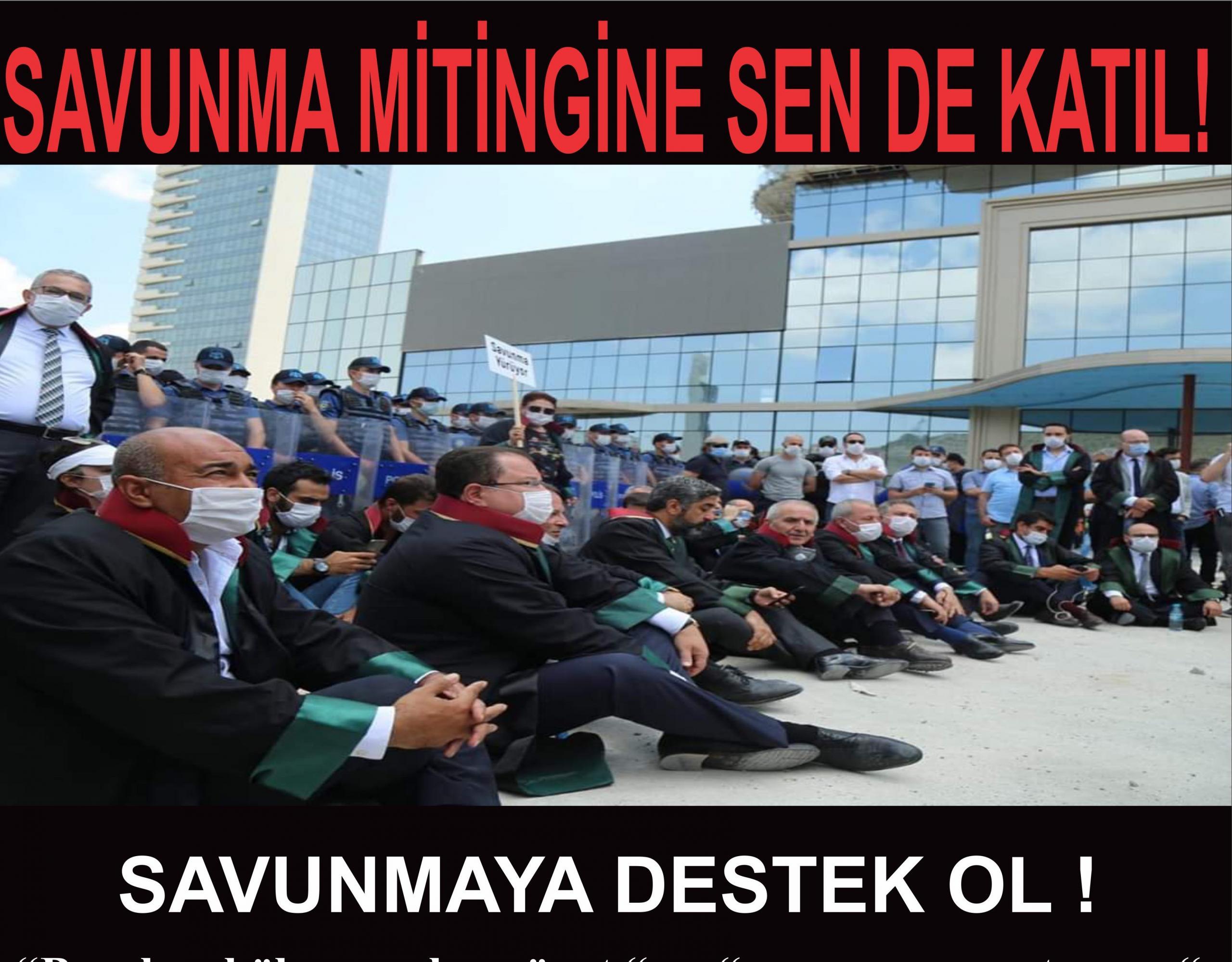 """Gaziantep Barosu'ndan """"Savunma Mitingi"""" için çağrı"""