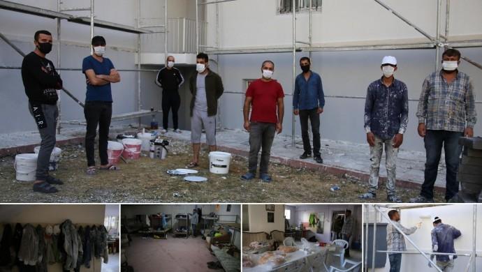 Bodrum katında yaşayan 13 işçiden 3'ünün testi pozitif çıktı