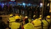 Ermenek işçileri jandarma barikatında sabahladı
