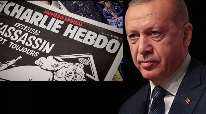 Charlie Hebdo'nun Erdoğan karikatürüne Bakan Yardımcısından Küfürlü Tepki