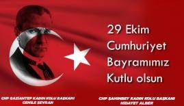 """CHP Gaziantep Kadın Kolları: """"Cumhuriyet, insanlığın medeniyet tarihinin kısa bir özetidir"""""""