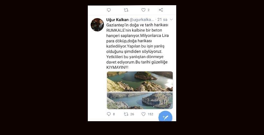 CHP'li Kalkan: Rumkale'nin kalbine bir beton hançer saplanıyor
