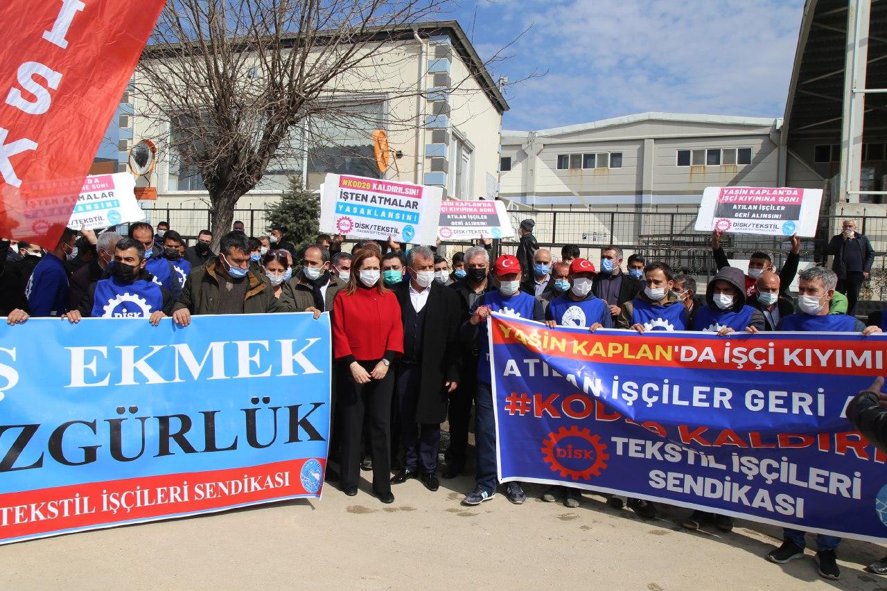 DİSK Genel Başkanı Arzu Çerkezoğlu: Suç ve iftirayla işten çıkarıldılar