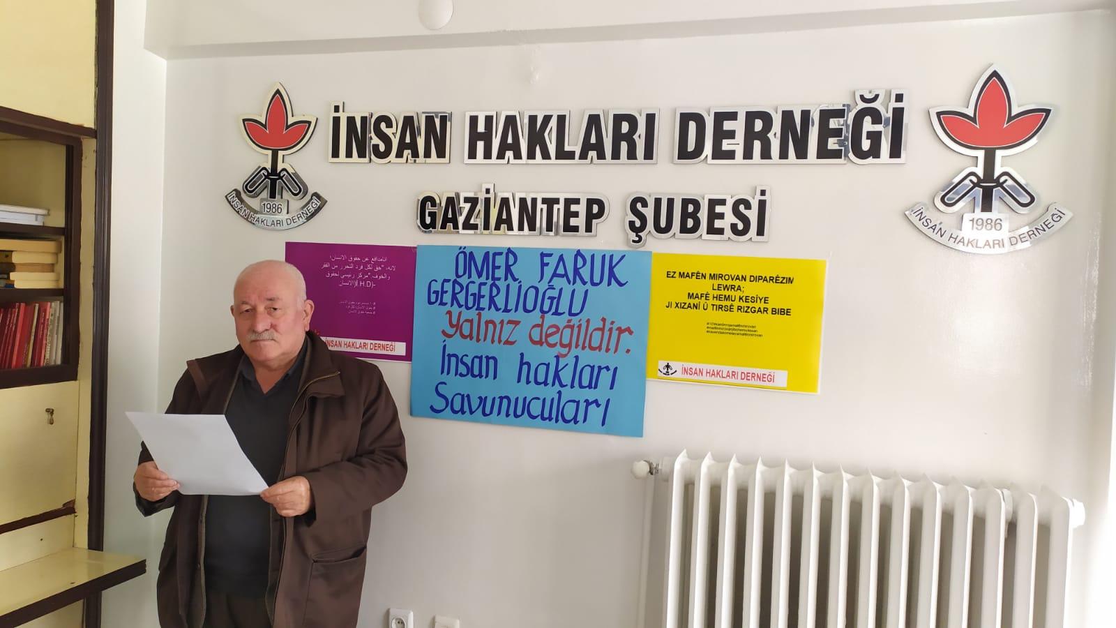 Gergerlioğlu ve HDP kapatılma davasına Gaziantep STK'lardan tepki