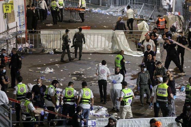 İsrail'deki dini şenlikte izdiham: 44 kişi ezilerek öldü