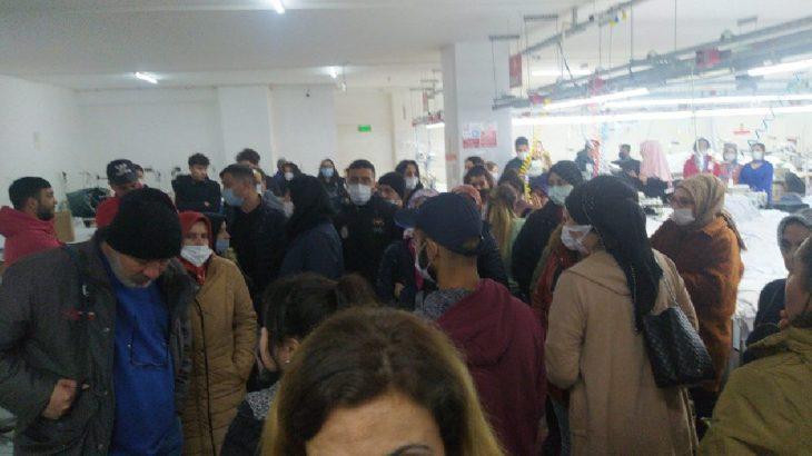 Özsen Tekstil işçileri ödenmeyen ücretleri için fabrikayı terk etmeme eylemine başladılar